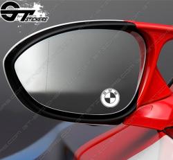 3 Stickers Logo BMW Pour rétroviseurs
