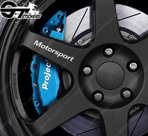 4x Stickers Bmw Motorsports pour jantes.