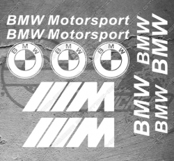Planche de 11x Stickers BMW Motorsport