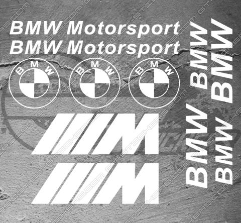 Planche de 11x stickers Bmw Motorsport