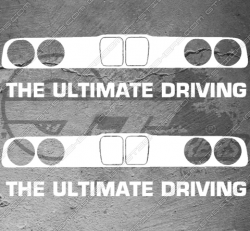 2 Stickers BMW Ultimate Driving, taille au choix