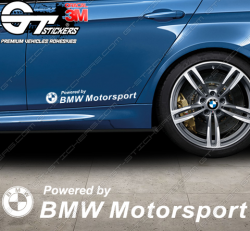 Sticker Powered by BMW Motorsport, taille au choix