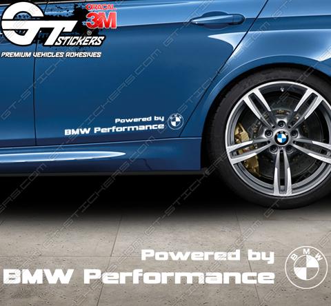 Sticker Powered by BMW Motorsport, taille au choix