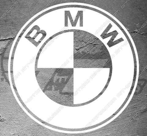 1x sticker logo BMW sur mesure