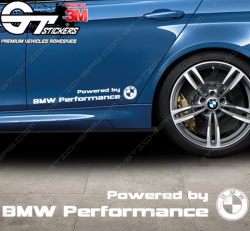 Stickers Powered by BMW Performance, taille au choix