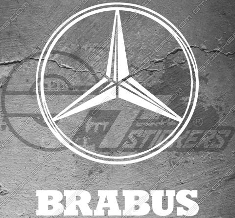 Sticker Brabus / Mercedes, taille au choix