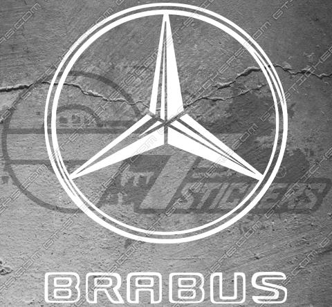 "2 Stickers Mercedes Brabus avec logo ""B"""