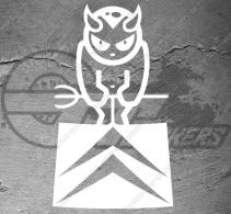 Stickers Logo Citroën Devil