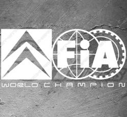 Stickers Citroën FIA World champion