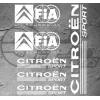 Planche de 6x stickers Citroën Fia World Champion