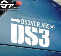 Kit Stickers DS3 R (racing) pour capot.