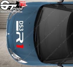 Kit Stickers DS3 R1 (racing) pour capot.