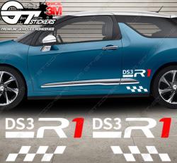 Kit Stickers latéraux DS3 Racing R1 spécial edt.