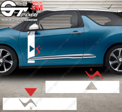 Kit Stickers Latéraux DS3 R (racing) Concept - Bicolore