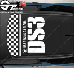 Kit Stickers DS3 R (racing) V1.00 pour toit