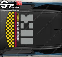 Kit Stickers DS3 R Plane (racing) pour toit