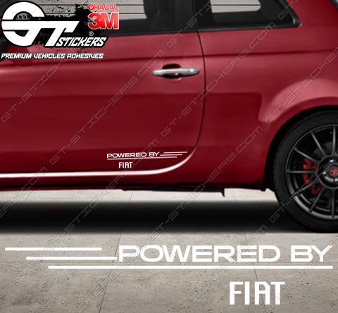 Kit 2x stickers Powered by Fiat