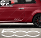 Stickers Fiat Sigle 500, taille au choix