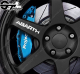 Kit 4x Stickers Abarth pour jantes
