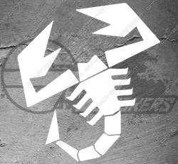 1x sticker Scorpion Abarth