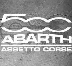 Sticker Fiat 500 Abarth Assetto Corse, taille au choix