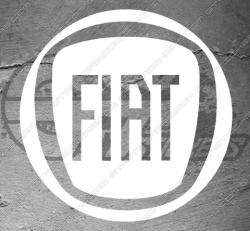 1x sticker Logo fiat, taille au choix