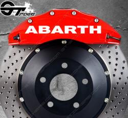 Kit 4x Stickers Abarth pour étriers de frein.