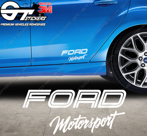 Sticker Ford Motorsport Topview, taille au choix