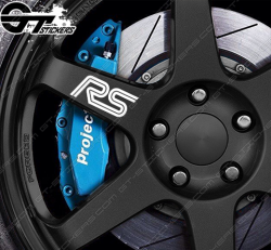 4x Stickers Ford RS pour jantes.