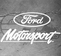 Sticker logo Ford Motorsport Tview Clear, taille au choix