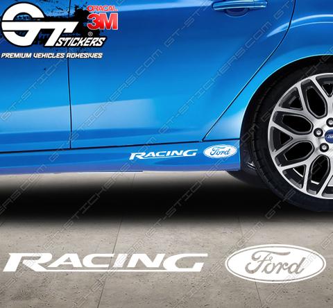 Sticker Ford Racing Rallye B, taille au choix