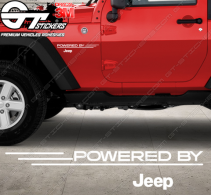 Kit Stickers Powered by Jeep 280 mm