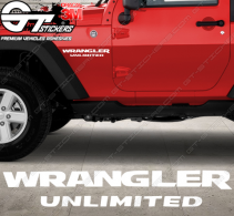 Stickers Jeep Wrangler Unlimited, taille au choix