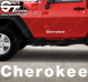Stickers Jeep Cherokee, taille au choix