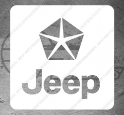 Sticker logo Jeep Square, taille au choix