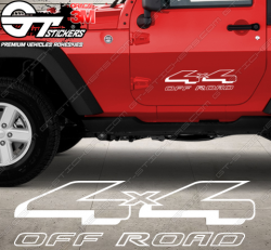 Stickers Jeep 4x4 Offroad, taille au choix
