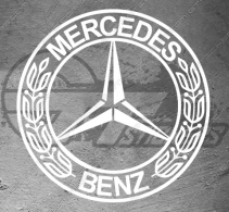 Stickers Sigle Mercedes Luxury Classic, taille au choix