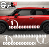 kit bandes latérales Mini Cooper Racing N1