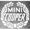 Sticker Couronne de lauriers Mini Cooper, taille au choix