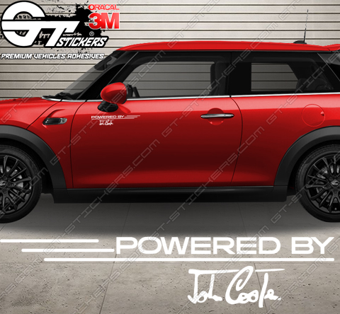 Kit Stickers Powered by John Cooper