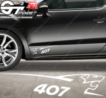 Kit 2x stickers Peugeot Sport 407