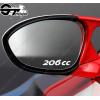 3 Stickers Peugeot 206 cc pour rétroviseurs