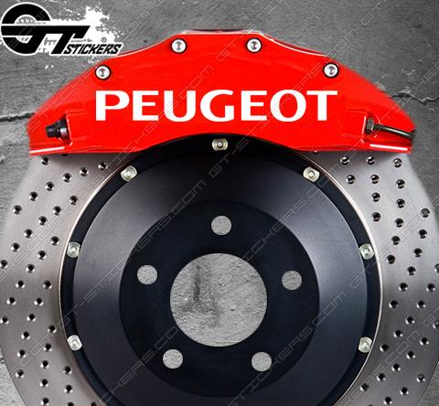 Kit 4x stickers Peugeot Bold pour étriers de frein