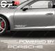 Kit 2x Stickers Powered by Porsche 340 mm