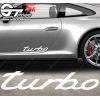 1x Stickers Porsche Turbo Modern Design