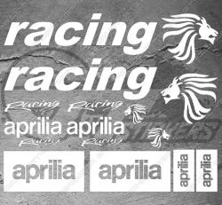 Planche de 14 stickers Aprilia racing