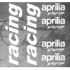 Planche de 6 stickers aprilia Racing