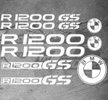 Planche XXL - 9 Stickers BMW R1200 GS