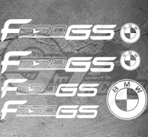 Planche XXL - 7 Stickers BMW F650 GS