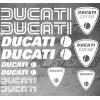 Planche de 12 Stickers DUCATI CORSE